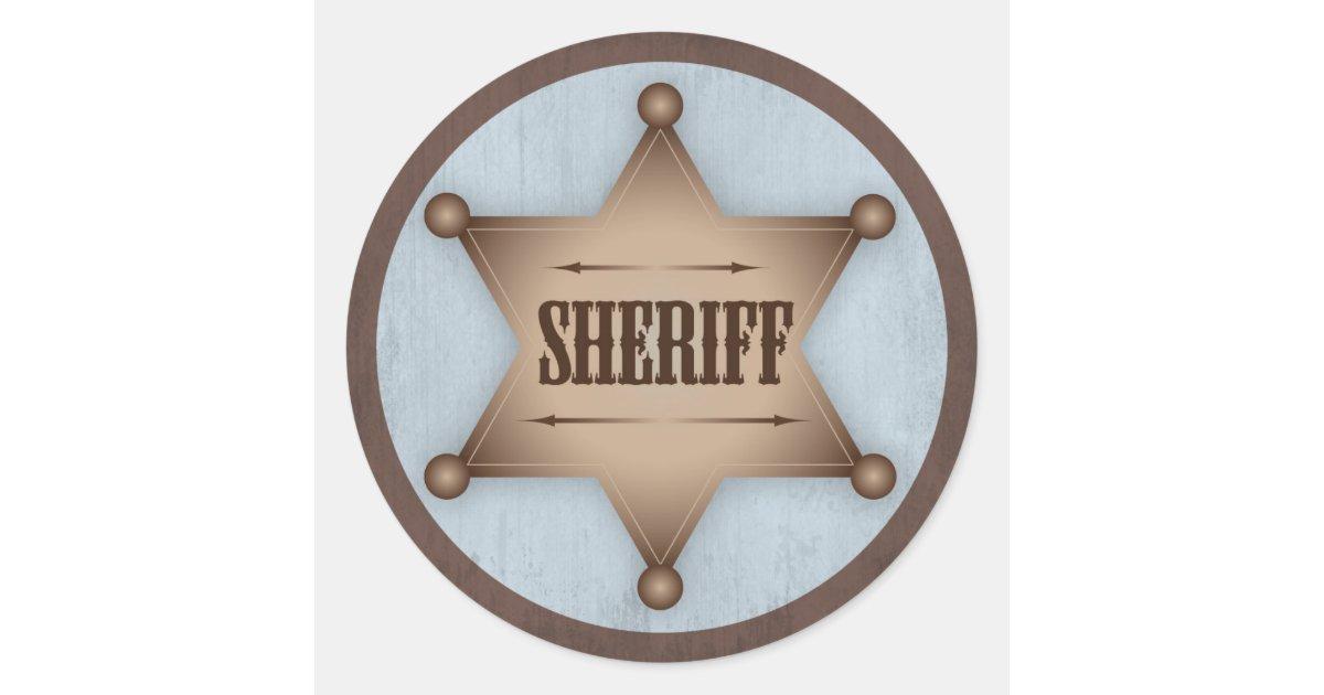 Sheriff Star Stickers Kamos Sticker