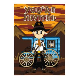 Cowboy Sheriff  & Jail Wagon Invite