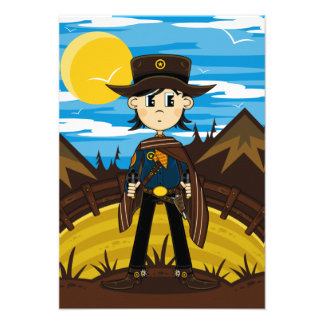 Cowboy Sheriff RSVP Card Personalized Announcements