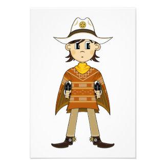 Cowboy Sheriff RSVP Card Invitations