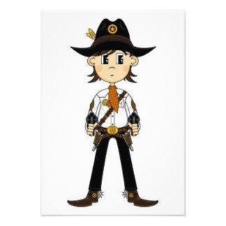 Cowboy Sheriff RSVP Card Invite