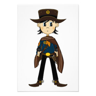 Cowboy Sheriff RSVP Card Personalized Invite