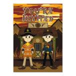 Cowboy Sheriffs at Jail Party Invite 13 Cm X 18 Cm Invitation Card