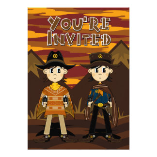 Cowboy Sheriffs Party Invite