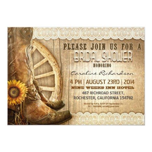 Country Bridal Shower Invitations gangcraftnet