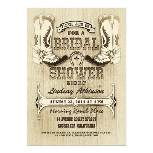 Personalized Cowboy Boots Invitations