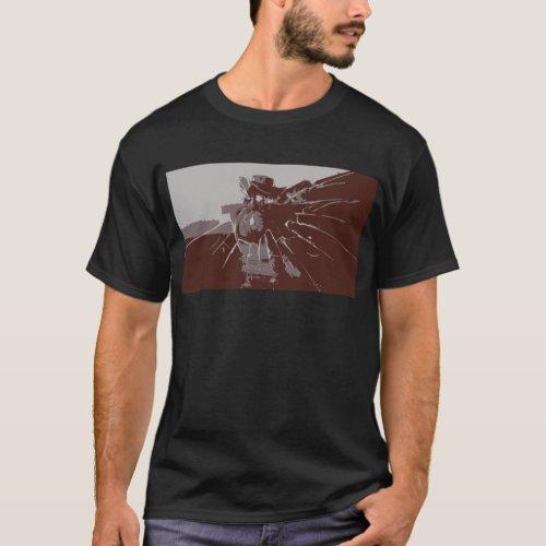 Cowboy Shooting at Glass T_Shirt