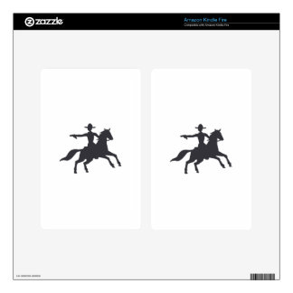 COWBOY SHOOTING DECAL FOR KINDLE FIRE
