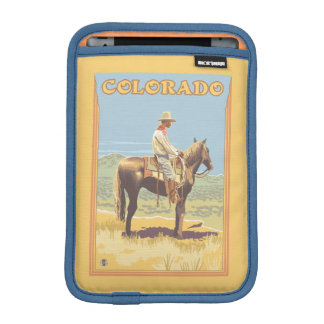 Cowboy (Side View)Colorado iPad Mini Sleeve