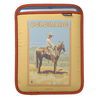 Cowboy (Side View)Colorado iPad Sleeve