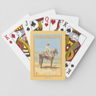 Cowboy (Side View)Colorado Playing Cards
