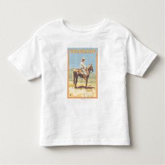 Cowboy (Side View)Colorado Toddler T-shirt