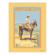 Cowboy (Side View)New Mexico Postcard