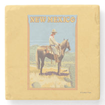 Cowboy (Side View)New Mexico Stone Coaster