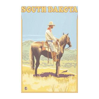Cowboy (Side View)South Dakota Canvas Print