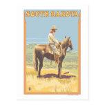 Cowboy (Side View)South Dakota Postcard