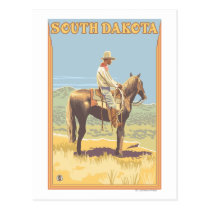 Cowboy (Side View)South Dakota Postcard