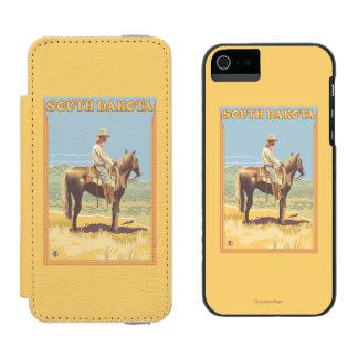 Cowboy (Side View)South Dakota Wallet Case For iPhone SE/5/5s