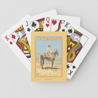 Cowboy (Side View)Wyoming Playing Cards