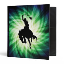 Cowboy Silhouette; Glowing Binder