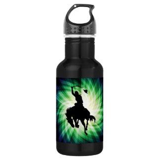 Cowboy Silhouette; Glowing Water Bottle