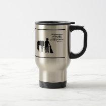 cowboy silhouette travel mug