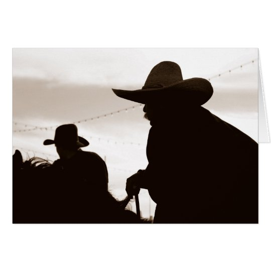 Cowboy Sillouettes Note Card