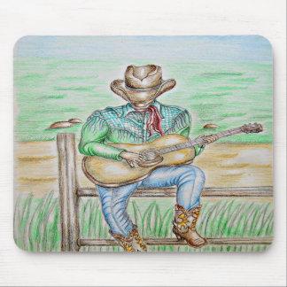 cowboy singer mouse pads