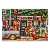 Cowboy Singing At the Gas Station Card