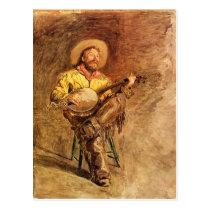 Cowboy Singing Postcard