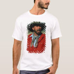 Cowboy sitting on horse wearing red shirt, T-Shirt