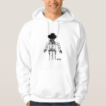 Cowboy Sketch Adult Hooded Sweatshirt
