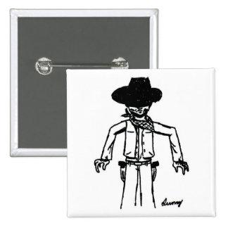 Cowboy Sketch Button