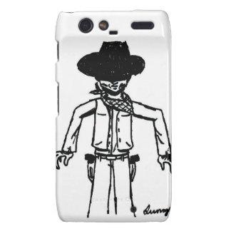 Cowboy Sketch Droid RAZR Case