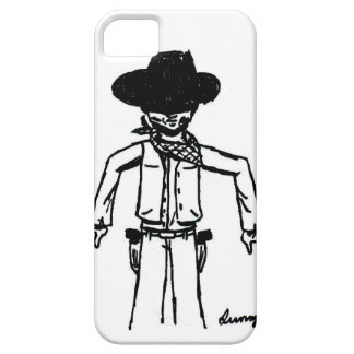 Cowboy Sketch iPhone 5 Barely There Case iPhone 5 Case