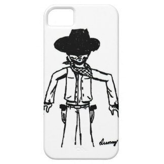 Cowboy Sketch iPhone 5 Case