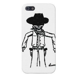 Cowboy Sketch iPhone 5 Savvy Case Cover For iPhone 5
