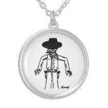 Cowboy Sketch Necklace