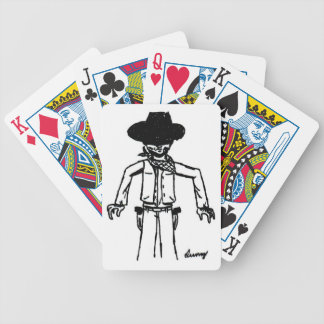 Cowboy Sketch Playing Cards