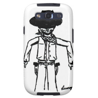 Cowboy Sketch Samsung Galaxy S III Case Galaxy S3 Case