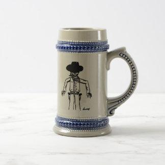 Cowboy Sketch Stein Mug