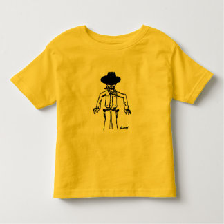 Cowboy Sketch Toddlers T-Shirt