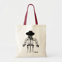 Cowboy Sketch Tote Bag