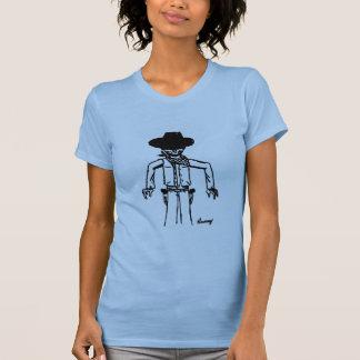 Cowboy Sketch Womens Twofer Sheer T-Shirt