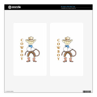 COWBOY DECAL FOR KINDLE FIRE
