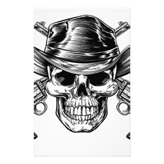 Cowboy Skull and Pistols Stationery