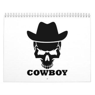 Cowboy skull calendar