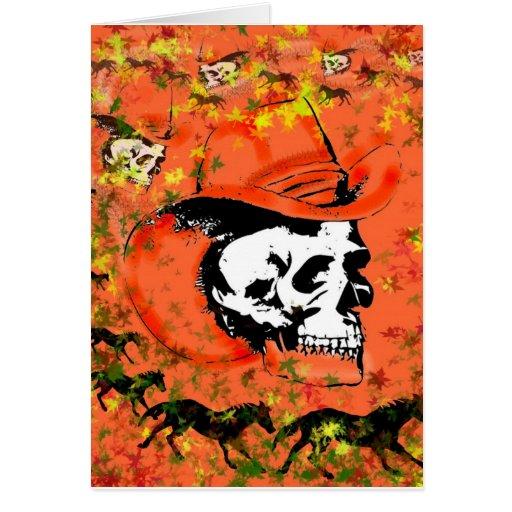 Cowboy Skull - Card