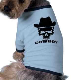 Cowboy skull dog tshirt