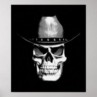 Cowboy Skull Poster